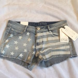 NWT Vanilla Star America regular rise shortie, 7